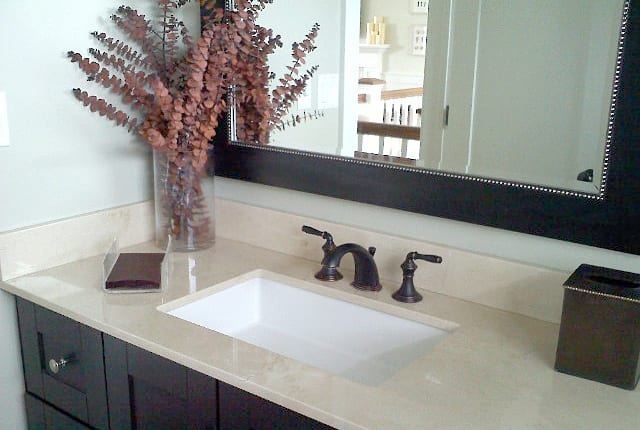 a brand new sink and vanity